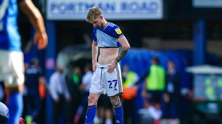 Hayden Coulson pictured at the final whistle.