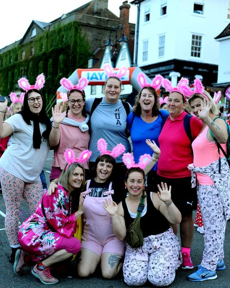 Twinkling bunny ears welcome back pyjama clad ladies for the welcome return of the 2021 Girls Night