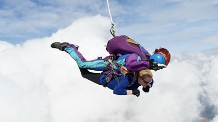 Head teacher Bridge Harrison shows she has nerves of steel after completing a remarkable sky dive