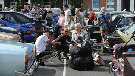 Some of the cars on show at the King's Lynn Classic Car Day
