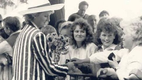 1987 and Diana, Princess of Wales, arrived to cheers of welcome at the 168-bed hospital.