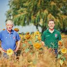 Patrick and David Barker launch Suffolk's Greenest County Awards at their farm in Westhorpe