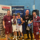 Jayden Slade andBenny Tokeley with respective coaches Chris Penny, Terry Abbot and Sean O'Sullivan after a thrilling final.