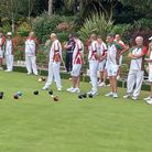 Teams from Shaldon and North Down battling in final of Bowls Devon County Trophy at Madeira