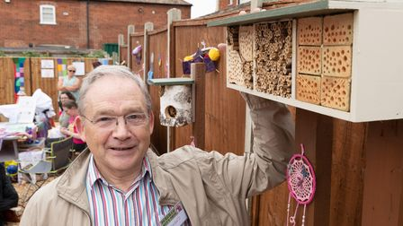 Bug hotels, made by Dereham Men's Shed, have been placed in the garden to encourage local wildlife