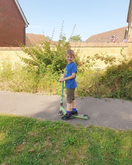 Nine-year-old Oliver Brasher (pictured) has raised £550 for Cambridgeshire Expressive Arts and Counselling Centre (CEAACC).
