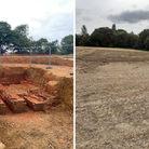 Developers claim an archeology find near John Constable's home has been coveredto protect it