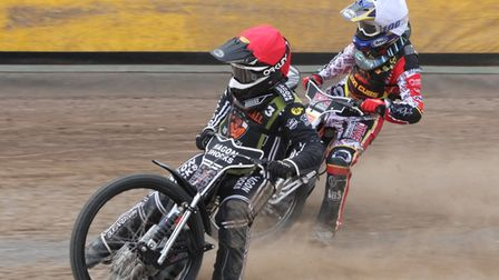 Sam Hagon in action for Mildenhall Fen Tigers vs Leicester