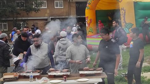 Volunteers put on free fun day for the community