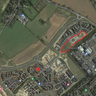 The new homes would be built on the area of land circled in red