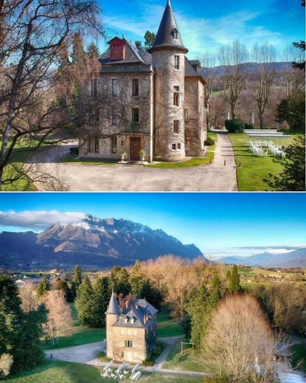 luxury chateau with private heliport
