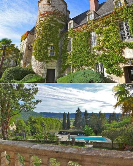 Dordogne Valley chateau with outbuildings