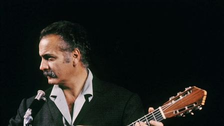 Georges Brassens in concert in the 1960s