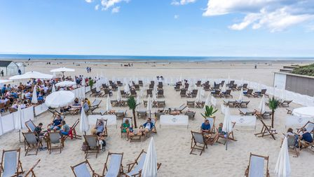 Relax on the beach in northern France