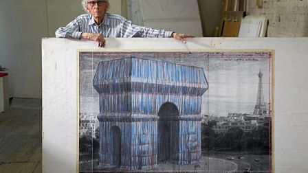 Christo preparing for the project. Pic: Wolfgang Volz © 2019 Christo and Jeanne-Claude Foundation