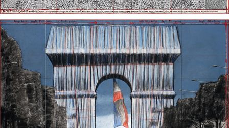 Plans for L'Arc de Triomphe, Wrapped. Pic: Andre Grossmann © Christo and Jeanne-Claude Foundation