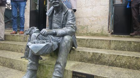 Statue of a truffle seller at Lalbenque market. Pic: Karyn Noble