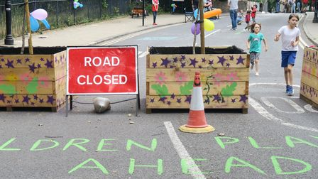 Trial closure of Skew Bridge over the Hertfordshire Cut on the B118 Old Ford Road in 2020