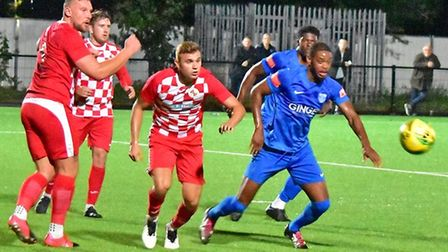 Barking in action against Tilbury in the Isthmian North
