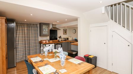The sociable kitchen-diner at Adam's holiday accommodation