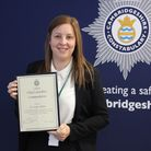 Chief Constable Nick Dean presented the award to DC Louisa Abbott