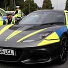 A police Lotus used in road safety campaigns like Project Edward