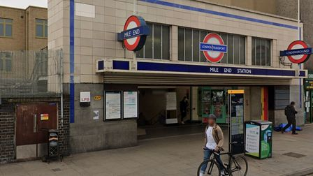 Mile End station.. closed during flooding, now reopened