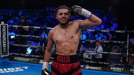 Khalid Ali after his victory against Dean Wilkinson