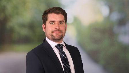 Photograph of Max Turner, who leads the new homes team at Savills in Ipswich