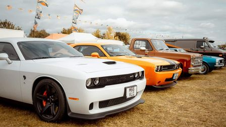 Classic American cars will be on display at Stonham Barns, near Stowmarket