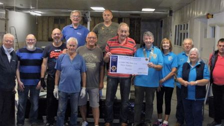 Lions give their support to Wisbech table tennis club