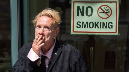 Johnny Rotten, never one to follow the rules, is in Bury St Edmunds this weekend