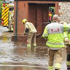 Homes and streets in Heacham have been hit by flooding, along with other locations in west Norfolk.