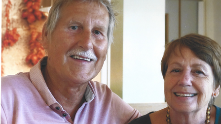 Bill Olive pictured with his wife, MarcellaOlive-Ballestra MBE