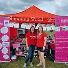 Anna Foster (L) and Charlene Knowles (R) raised over £500 at a charity tombola.