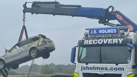 Car that went into the river at March finally removed today.