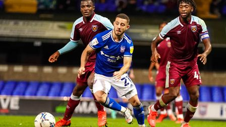 Conor Chaplin in action against West Ham.