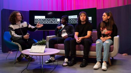 Barking and Dagenham College students had placements at film studios in the borough
