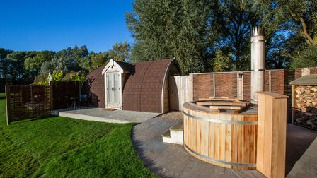 One of the Nooks with a hot tub at Tuddenham Mill