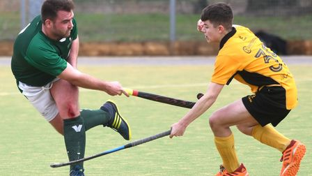 Action from March Town 1sts' vs Long Sutton 2nds in Division Three North West of the East League