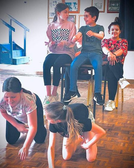 Youth ages eight and up participated in the Youth Acts Up summer workshop August 9-13 in Little Downham.