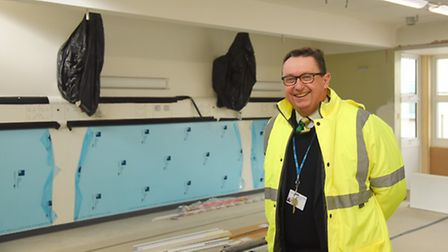 Estates and Facilities strategic lead Alistair Nelson inside the re-developed Windsor Ward at the Qu