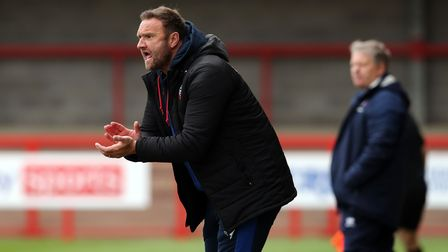 Bolton Wanderers manager Ian Evatt on the touchline during the Sky Bet League Two match at The Peopl