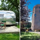 """Tin Can Camping, in Mundham, and Alysham Windmill have been named as some of the """"quirkiest"""" places to stay in the UK."""