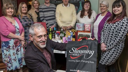 Memebers of Slimming World are helping raise money for the QEH / EDP EXCEL Appeal by having a raffle