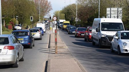 A big increase in traffic in Norwich. Pictured is the A146 Barrett Road from the Tuckswood roundabou