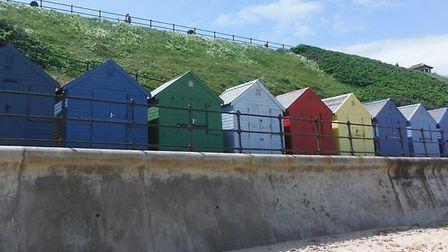 Beach huts at Mundesley. Picture: SUBMITTED