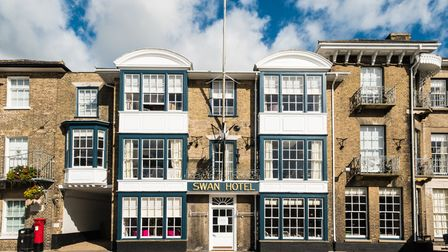The Swan Hotel in Southwold's High Street is one of the town's iconic buildings