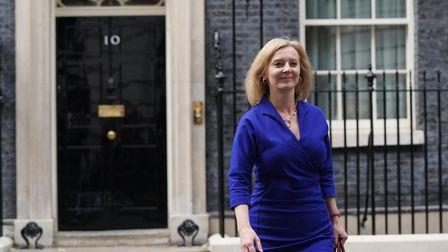 Newly-appointed Foreign Secretary Liz Truss leaves Number 10 Downing Street, as Prime Minister Boris