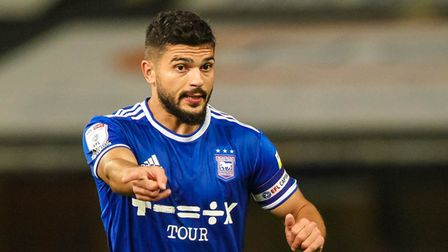 Sam Morsy pictured organising play early in the game.